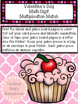 Multi-Digit Multiplication File Folder Game