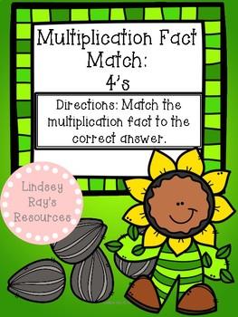 Multiplication File Folder Game - 4's