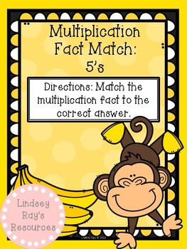 Multiplication File Folder Game - 5's