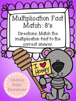 Multiplication File Folder Game - 8's