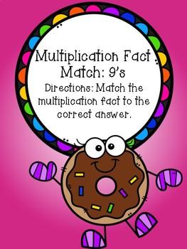 Multiplication File Folder Game - 9's