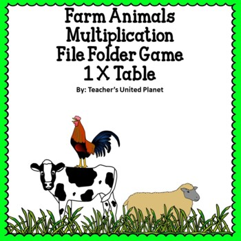 Multiplication File Folder Games 1 X Table Farm Animals