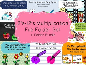Multiplication File Folder Games 2-12 (Bundle)