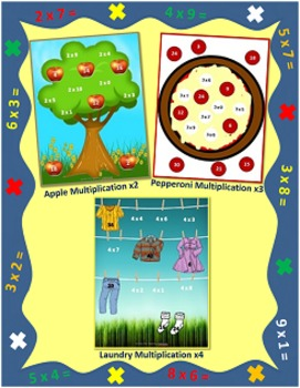 Multiplication File Folder Games Bundle (8 Games, Facts 0-10)