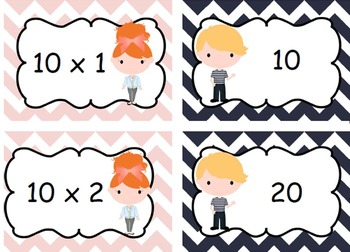 Multiplication File Folder Games Facts for 2-10- Word Prob