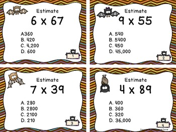 Multiplication Files - Estimation of 2, 3, and 4 digit numbers