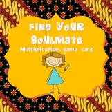 "Multiplication ""Find Your Soulmate"" Game Card"