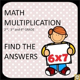 Multiplication Find the Answers (fun multiplication worksheets)