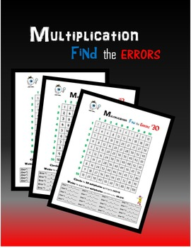 Multiplication:  Find the Errors