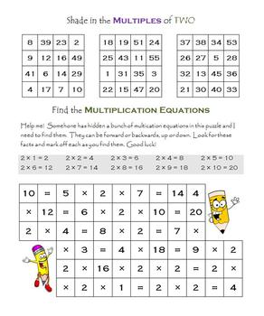 Multiplication:  Find the multiples. Find the equations.