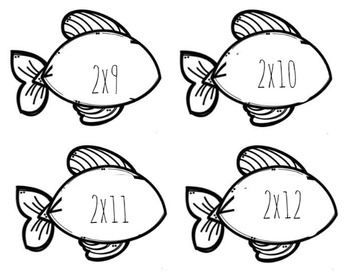 Multiplication Fish Flashcards
