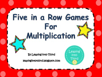 Multiplication Five in a Row Games