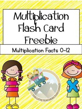 Multiplication Flash Card Freebie