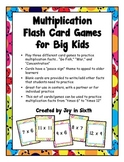 Multiplication Flash Card Games for Big Kids