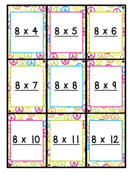 It's just an image of Adorable Multiplication Flash Cards Printable