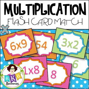 Multiplication Flash Card Match