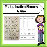 Multiplication Flash Card Memory Game