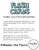 Multiplication Flash Card Set