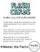 Multiplication Flash Card Set