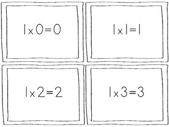 Multiplication Flash Cards (0-10)