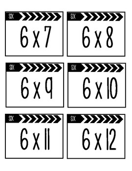 Multiplication Flash Cards 0-12