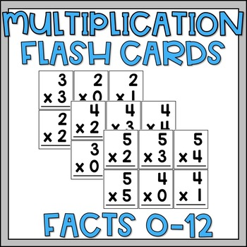 photo regarding Printable Multiplication Flash Cards 0-12 called Multiplication Flash Playing cards 0-12 as a result of Nurturing Imaginations TpT