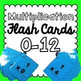 Multiplication Flash Cards [0-12] EASY PREP!