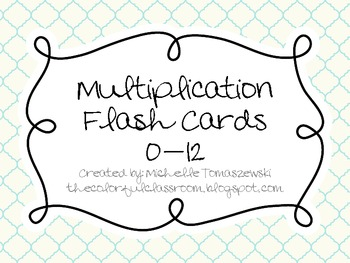 picture relating to Printable Multiplication Flash Cards 0-12 identify Multiplication Flash Playing cards: 0-12 Information