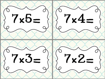 Multiplication Flash Cards: 0-12 Facts