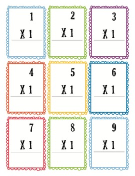 multiplication flash cards 0 12 free by heather s tpt