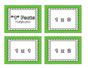 Multiplication Flash Cards 0 - 12 (NO PREP)