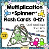 Multiplication Flash Cards 0-12 Fun Spinner Flash Cards for Multiplication Facts