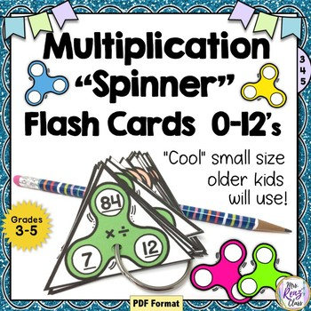 Multiplication Flash Cards 0-12 Fact Family Spinner Flash Cards Division, too!