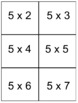 Multiplication Flash Cards (0-12 Times Tables)