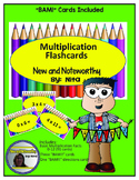 Multiplication Flash Cards 0-12 with Bam Cards included