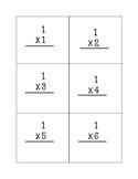 Multiplication Flash Cards 0-2