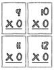 Multiplication Flash Cards - 0