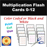 Multiplication Flash Cards:  0 Through 12