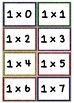 Multiplication Flash Cards 0's - 12's