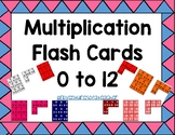 Multiplication Flash Cards 0 to 12