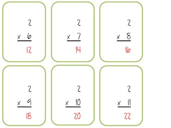 Multiplication Flash Cards (0's-12's)