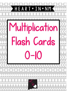 Multiplication Flash Cards (1-10)