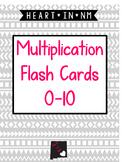 Multiplication Flash Cards (1-10)
