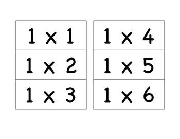 Multiplication Flash Cards 1-10
