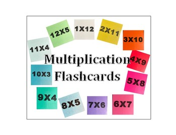 Multiplication Flash Cards 1-12