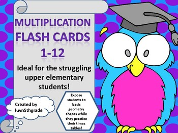 Multiplication Flash Cards 1 - 12 & More!