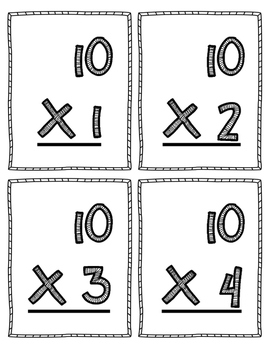 Multiplication Flash Cards - 10