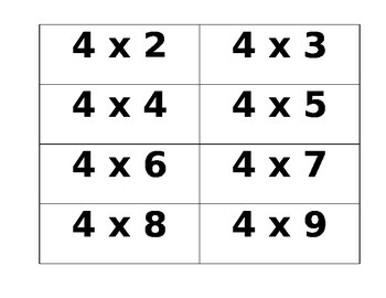 This is an image of Clever Multiplication Flash Cards Printable