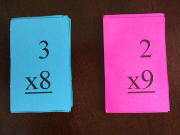 Multiplication Flash Cards 2 - 12