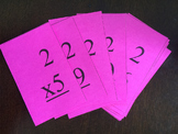 Multiplication Flash Cards 2 - 12